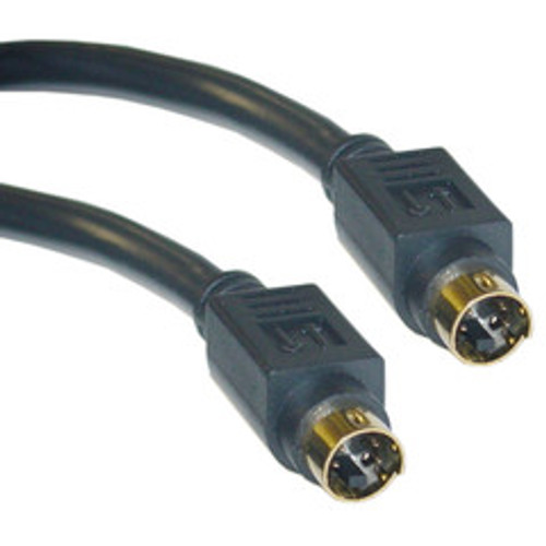 S-Video Cable, MiniDin4 Male, Gold-plated connector, 25 foot