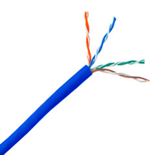 Bulk Cat5e Blue Ethernet Cable, Stranded, UTP (Unshielded Twisted Pair), Pullbox, 1000 foot