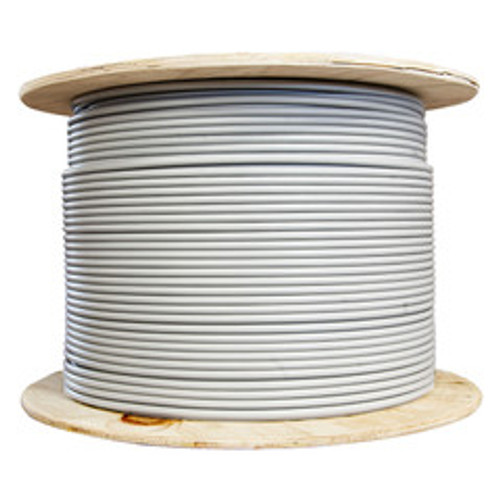 Bulk Cat6a Gray Ethernet Cable, Stranded, UTP (Unshielded Twisted Pair), Spool, 1000 foot