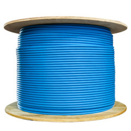 Bulk Cat6a Blue Ethernet Cable, Stranded, UTP (Unshielded Twisted Pair), Spool, 1000 foot