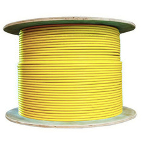 Bulk Cat6a Yellow Ethernet Cable, 10 gig Solid, UTP (Unshielded Twisted Pair), 500Mhz, 23 AWG, Spool, 1000 foot