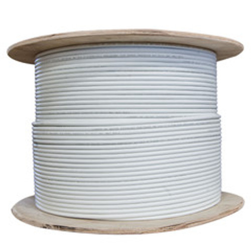 Plenum Shielded Cat6a Bulk White Ethernet Cable, Solid, CMP,    500 Mhz, 23 AWG, Spool, 1000 foot