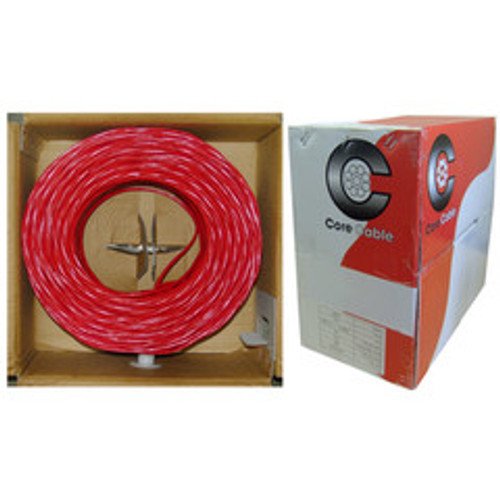 16/2 (16AWG 2C) Solid FPLR Fire Alarm / Security Cable, Red, 500 ft, Pullbox