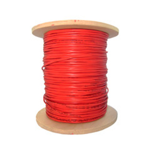 Shielded Plenum Fire Alarm / Security Cable, Red, 18/2 (18 AWG 2 Conductor), Solid, FPLP, Spool, 1000 foot