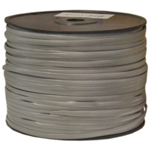 Bulk Phone Cord, Silver Satin, 28/8 (28 AWG 8 Conductor), Spool, 1000 foot