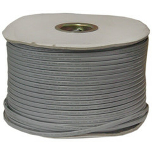 Bulk Phone Cord, Silver Satin, 26/6 (26 AWG 6 Conductor), Spool, 1000 foot
