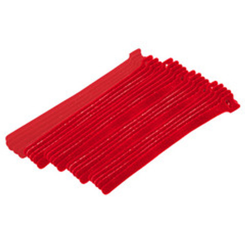 Red Hook and Loop Cable Strap w/ Eye, 0.50 inch x 8 inch, 25 Pack