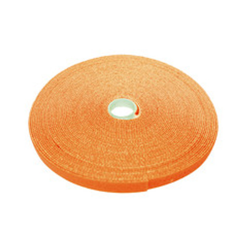 Hook and Loop Tape, 3/4 inch Wide, Orange, 50ft Roll