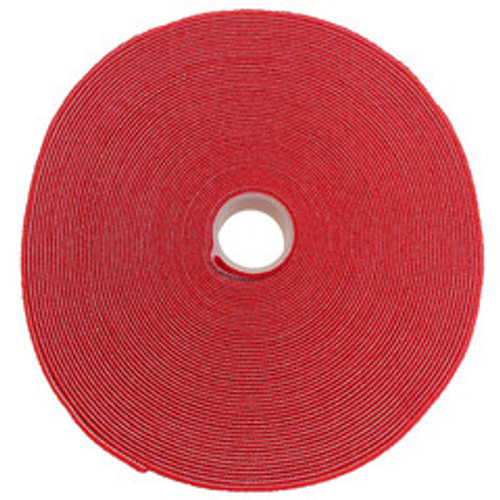 Hook and Loop Tape, 3/4 inch Wide, Red, 50ft Roll