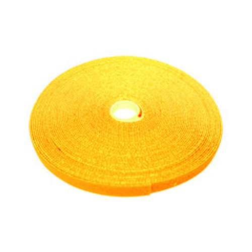 Hook and Loop Tape, 3/4 inch Wide, Yellow, 50ft Roll