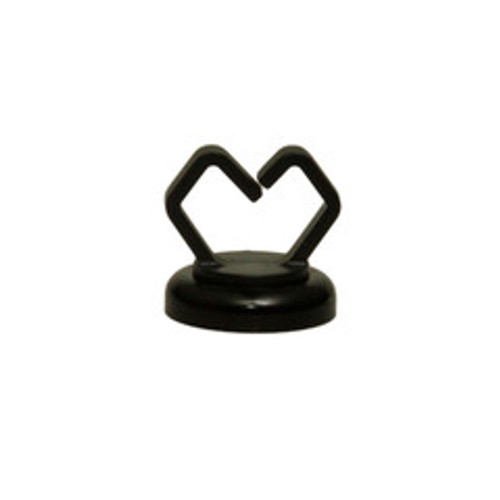 1/2 inch Black Magnetic Cable Holder, 10 pound pull force, Strong Polymer Cable Holder, Plenum Rated, UL Listed, 10 pieces/bag