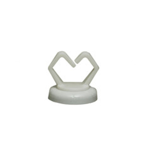 1/2 inch White Magnetic Cable Holder, Strong Polymer Cable Holder, 10 pound pull force, Plenum Rated, UL Listed, 10 pieces/bag