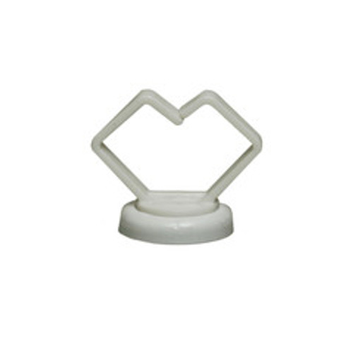 3/4 inch White Magnetic Cable Holder, Strong Polymer Cable Holder, 10 pound pull force, Plenum Rated, UL Listed, 10 pieces/bag