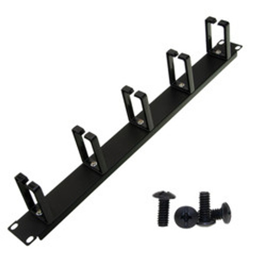 19 inch rackmount cable management wire holder, 1U