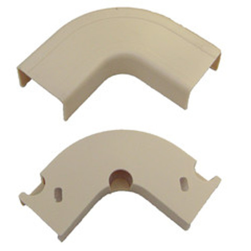 1.25 inch Surface Mount Cable Raceway, Ivory, Flat 90 Degree Elbow