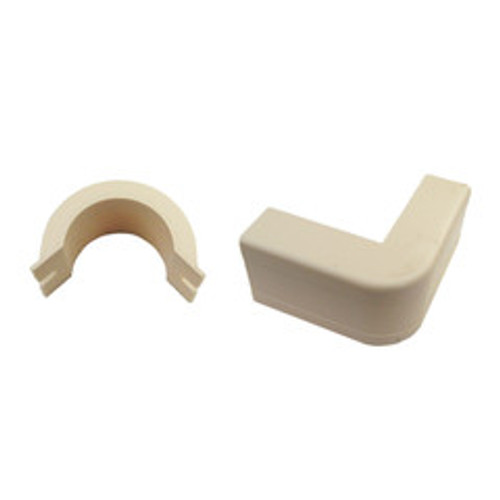 1.25 inch Surface Mount Cable Raceway, Ivory, Outside Elbow, 90 Degree