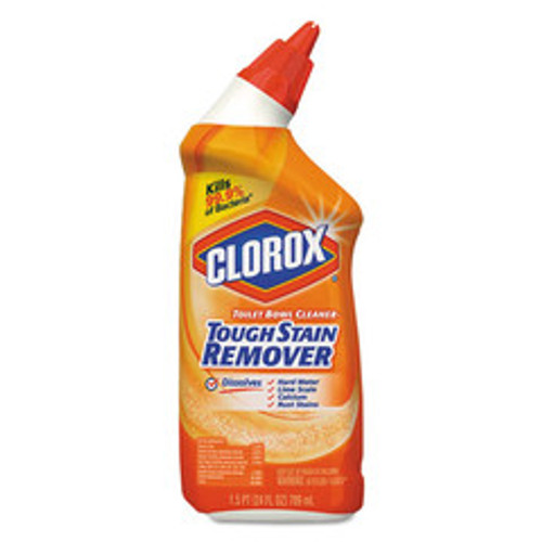 Clorox Toilet Bowl Cleaner, Tough Stain Remover, 24oz Bottle