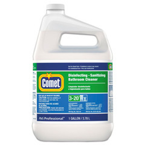 Case of 3 - Comet Disinfecting-Sanitizing Bathroom Cleaner, One Gallon Bottles