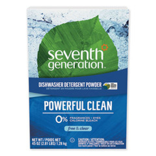 Seventh Generation Automatic Dishwasher Powder, Free and Clear, 45oz Box