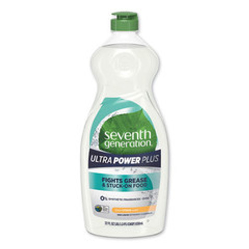 Seventh Generation Natural Dishwashing Liquid, Ultra Power Plus, Fresh Citrus, 22 oz Bottle