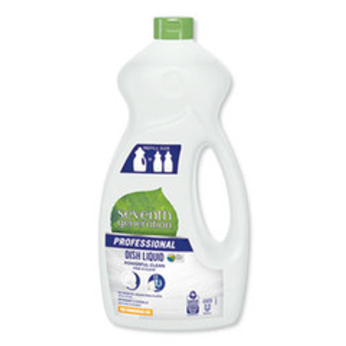 Seventh Generation Dishwashing Liquid, Free and Clear, Jumbo 50 oz Bottle