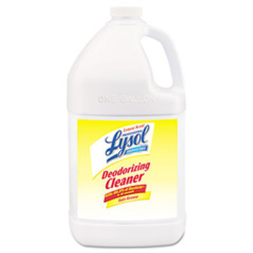 Case of 4 - Lysol Disinfectant Deodorizing Cleaner Concentrate, 1 gal Bottle, Lemon