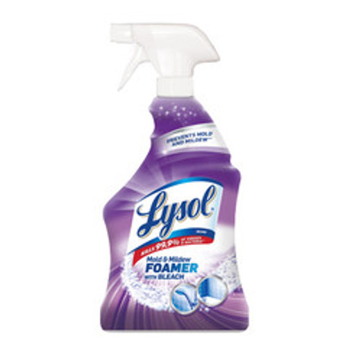 Case of 12 - Lysol Mold and Mildew Foamer with Bleach, Ready to Use, 32 oz Spray Bottles