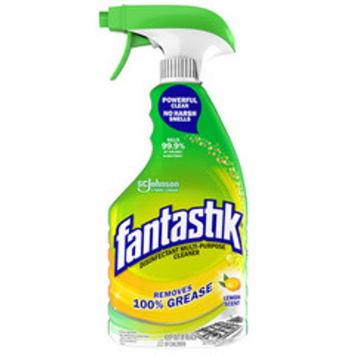 Fantastik Disinfectant Multi-Purpose Cleaner Lemon Scent, 32 oz Spray Bottle