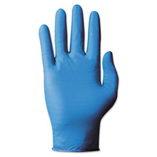 Ansell TouchNTuff Disposable Nitrile Gloves, 4 mil, Blue, Large, 8.5 - 9, Powdered, 100/Box