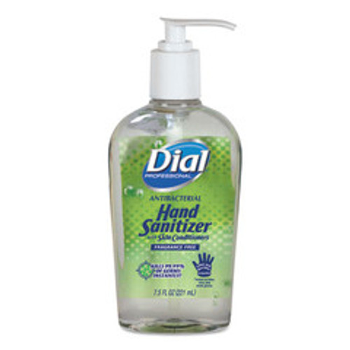 Dial Professional Antibacterial Gel Hand Sanitizer with Moisturizers, 7.5oz Pump Bottle