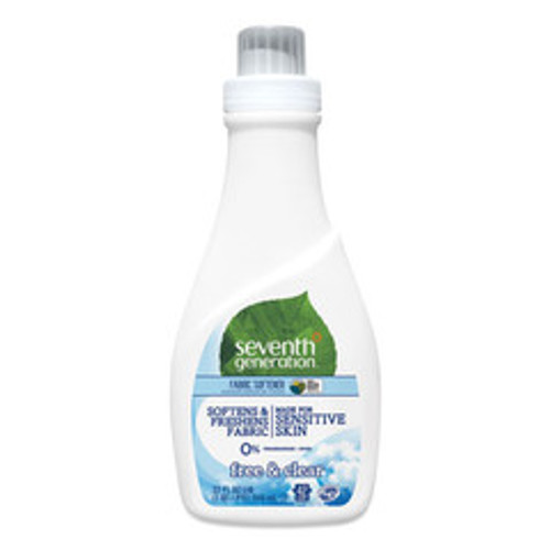 Seventh Generation Natural Liquid Fabric Softener, Free and Clear/Unscented 32 oz, Bottle