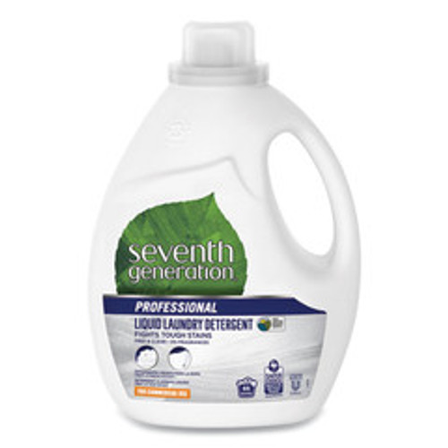 Case of 4 - Seventh Generation Liquid Laundry Detergent, Free and Clear, 66 loads, 100oz Bottle