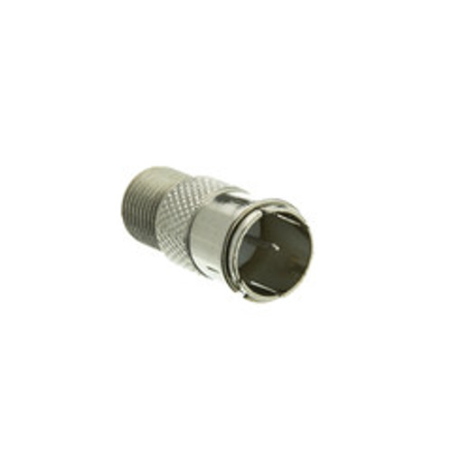 F-pin Coaxial Quick Connect Adapter, Threaded F-pin Female to Quick F-pin Male