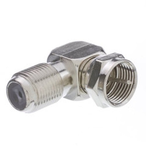 F-pin Right Angle Adapter, F-pin Female to F-pin Male