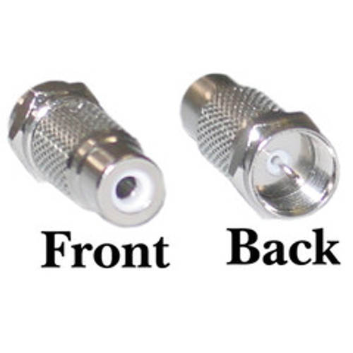 F-pin Male to RCA Female Adapter