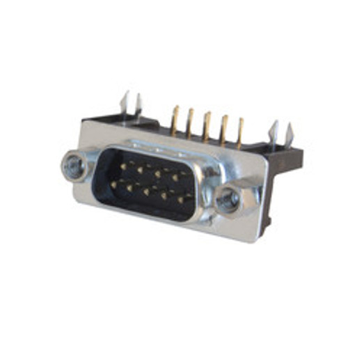 DB9 Male Right Angle Connector, Solder Type