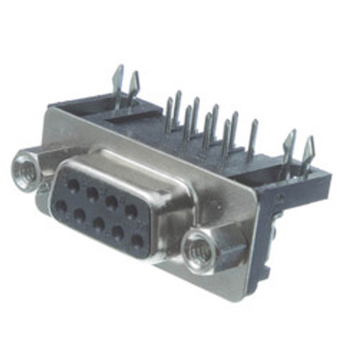 DB9 Right Angle Female Connector, Solder Type
