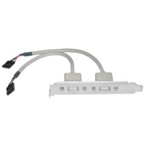 USB PC Expansion Slot Cover, Dual USB Type A Female Ports to Board Header