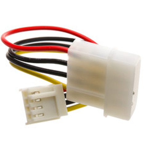 4 Pin Molex to Floppy Power Cable, 5.25 inch Male to 3.5 inch Female, 6 inch
