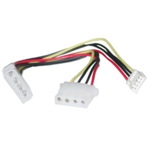 4 Pin Molex to Floppy and 4 Pin Molex Power Y Cable, 5.25 inch Male to 5.25 inch Female and 3.5 inch Female, 8 inch