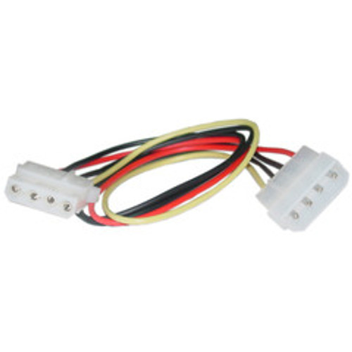 4 Pin Molex Extension Cable, 5.25 inch Male to 5.25 inch Female, 12 inch