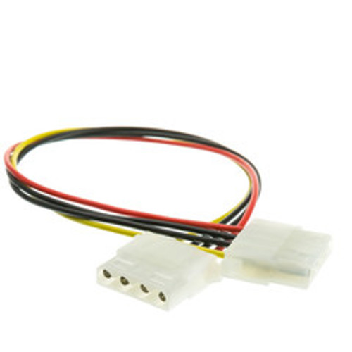 4 Pin Molex Cable, 5.25 inch Female to 5.25 inch Female, 12 inch