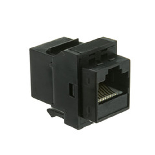 Cat6 Keystone Inline Coupler, Black, RJ45 Female