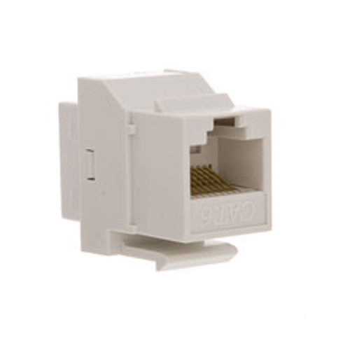 Cat6 Keystone Inline Coupler, White, RJ45 Female