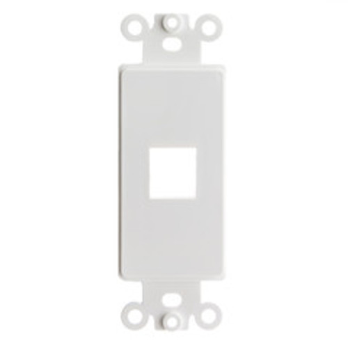 Decora Wall Plate Insert, White, 1 Keystone Jack, Single Gang