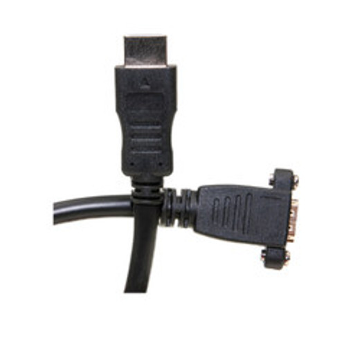 HDMI Extension Cable, High Speed with Ethernet, HDMI-A male to Panel Mount HDMI-A female , 4K @ 30Hz, 1 foot