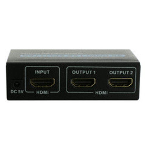 4K HDMI Amplified Splitter, 2 way, 1x2, HDMI High Speed with Ethernet, Metal Housing