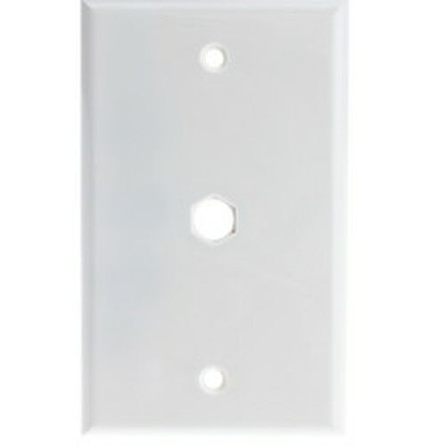 Wall Plate, 1 hole for F-pin Connector, White