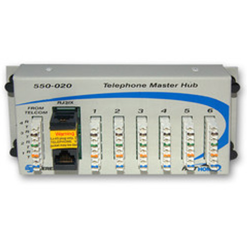 Telephone Hub Media Cabinet Module, Centralize and Simplify Telephone Distribution