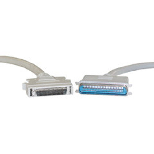 SCSI II cable, HPDB50 (Half Pitch DB50) Male to Centronics 50 (CN50) Male, 25 Twisted Pairs, 6 foot